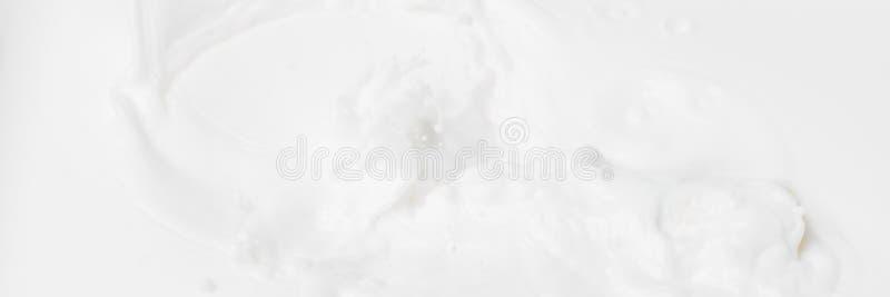 Fond liquide abstrait blanc pour des cosmétiques Texture blanche crème de fond pour la bannière de Web Web brouillé abstrait de l image libre de droits