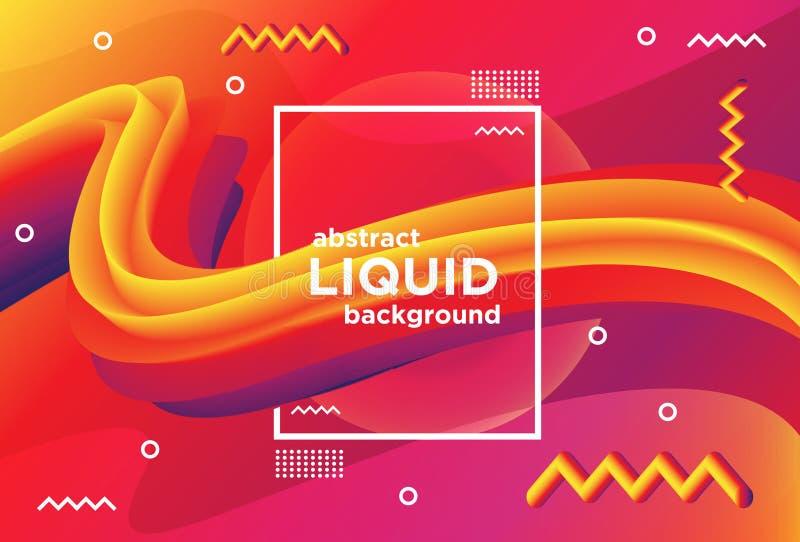 Fond liquide abstrait de bannière illustration stock