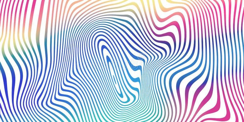 Fond liquide de mélange de couleur, modèle iridescent olographe de rayures Fond liquide de gradient de couleur d'abrégé sur vecte illustration de vecteur