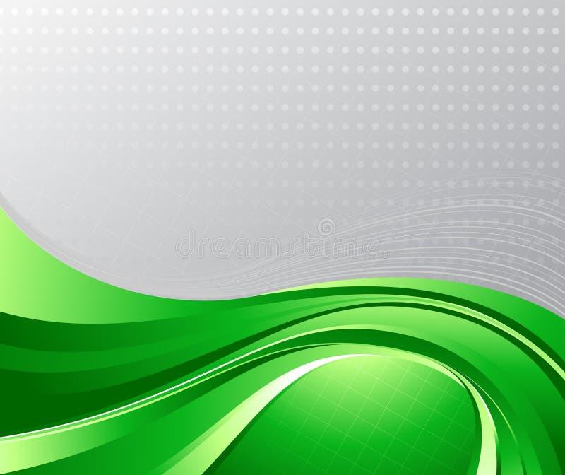 Fond liquide vert illustration stock