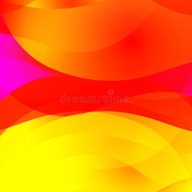 Fond lumineux abstrait coloré avec les lignes onduleuses Texture décorative de conception illustration libre de droits