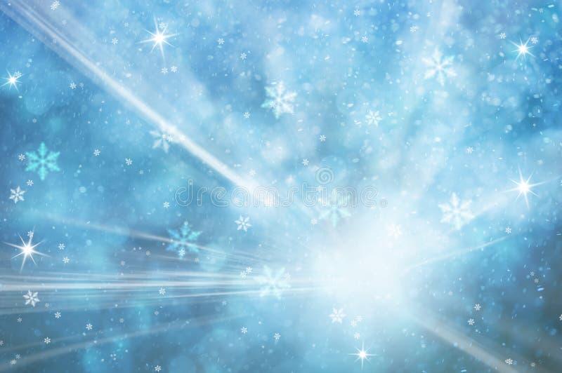 Fond lumineux abstrait de carte de voeux d'hiver illustration libre de droits