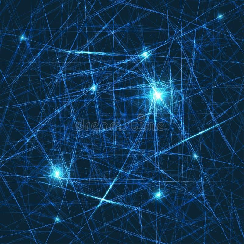 Fond lumineux abstrait de vecteur Concept des neurones et du nervou illustration libre de droits