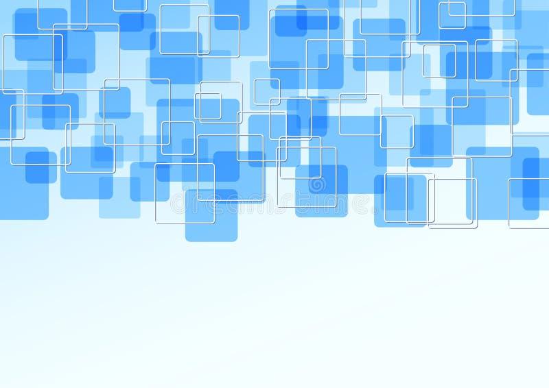 Fond lumineux bleu de particules de tuile illustration libre de droits