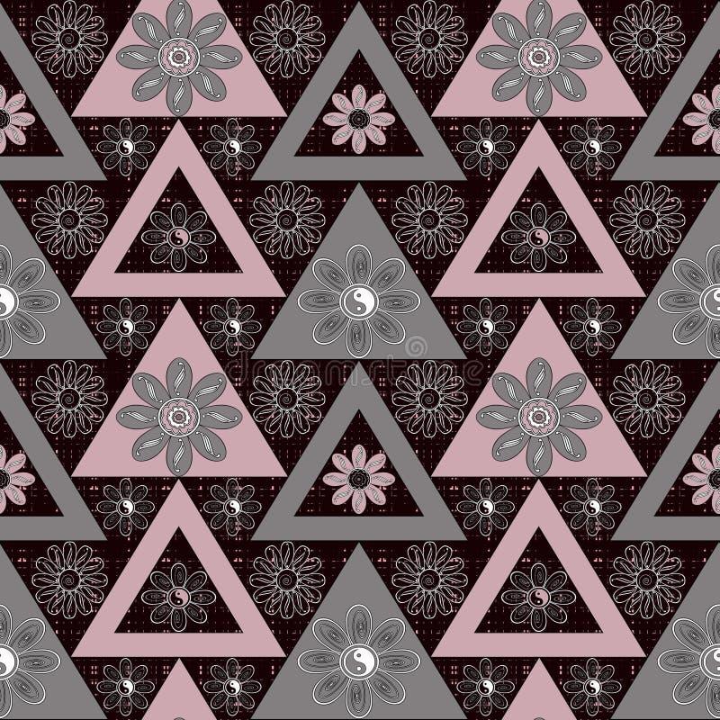 Fond lumineux d'éléments de modèle géométrique sans couture ethnique abstrait illustration de vecteur