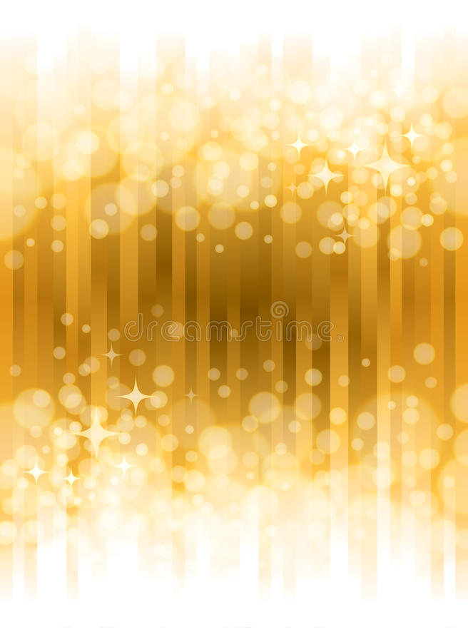 Fond lumineux d'or illustration stock
