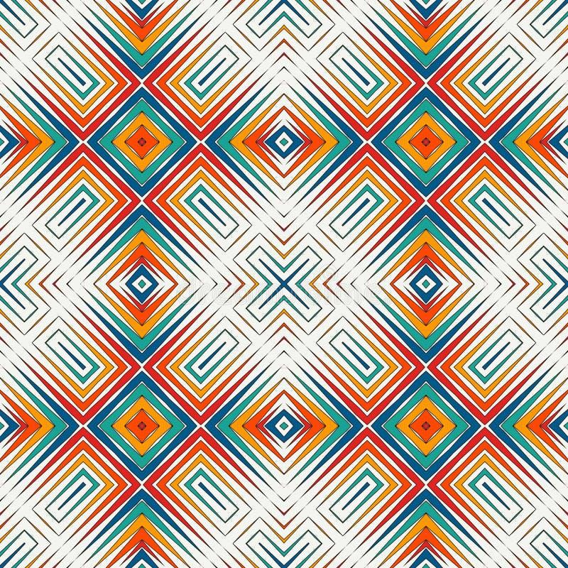 Fond lumineux d'abrégé sur mosaïque en verre souillé Ornement stylisé de kaléidoscope configuration sans joint géométrique illustration de vecteur