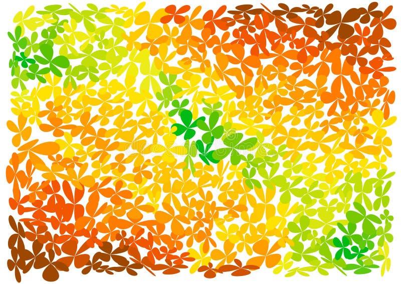 Fond lumineux de fleurs illustration de vecteur