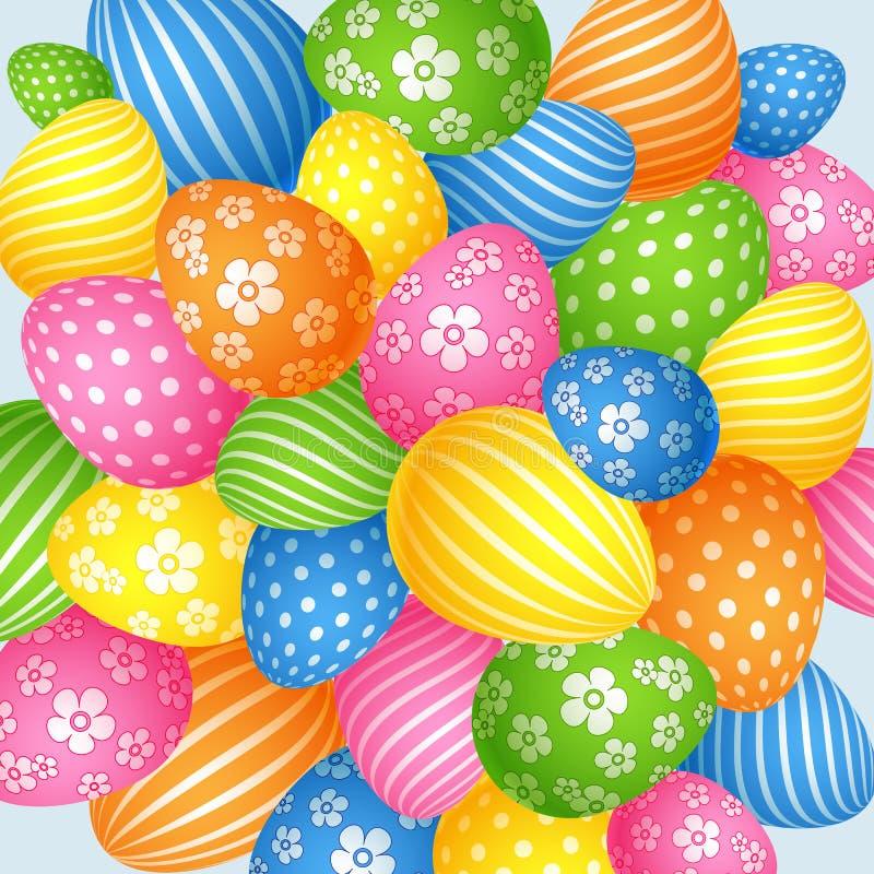 Fond lumineux des oeufs de pâques le symbole de l'élément de vacances du calibre créatif de conception pour des bannières de cart illustration stock
