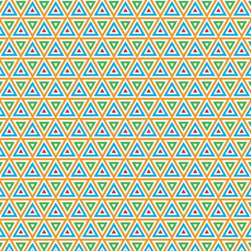 Fond lumineux géométrique de modèle de rétro triangle unique vibrante illustration libre de droits