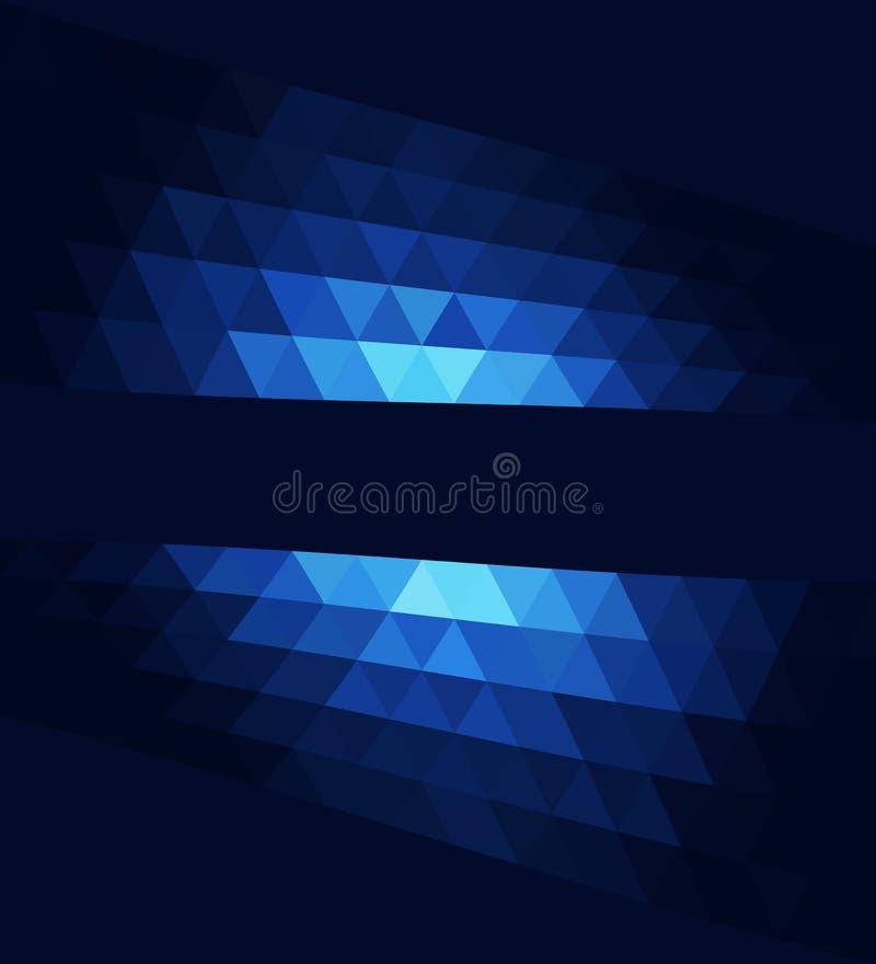 Fond lumineux texturisé triangulaire géométrique de vecteur abstrait illustration de vecteur