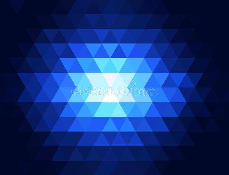 Fond lumineux texturisé triangulaire géométrique de vecteur abstrait illustration stock
