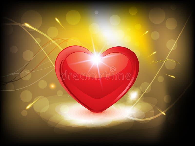 Fond lustré abstrait de coeur illustration libre de droits