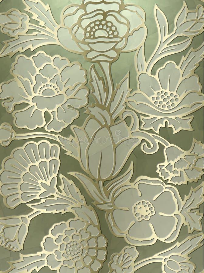 Fond luxueux d'impression floral illustration stock