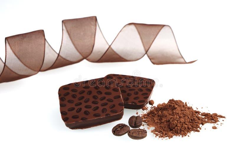 Fond luxueux de chocolat. images libres de droits