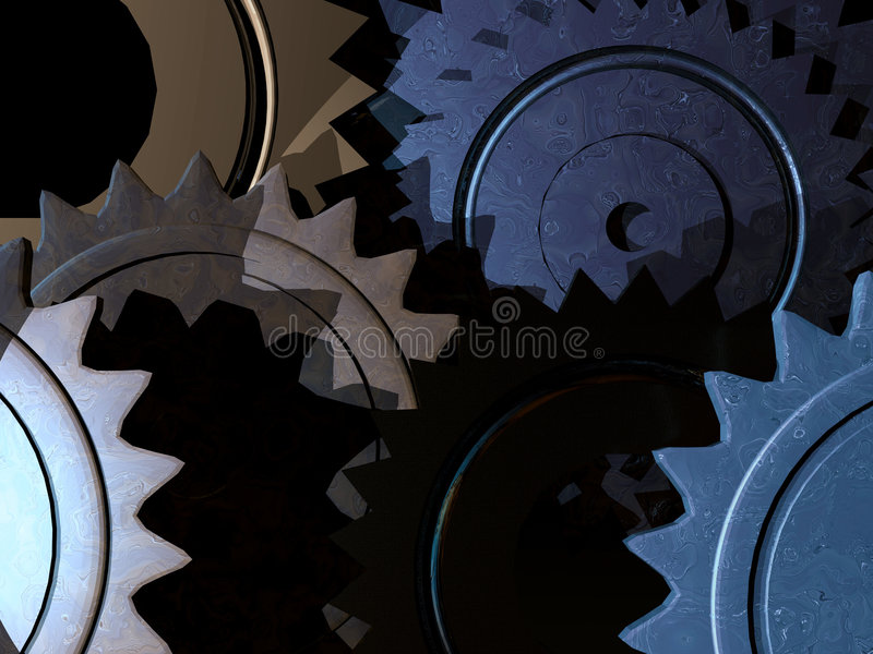 Fond mécanique illustration de vecteur