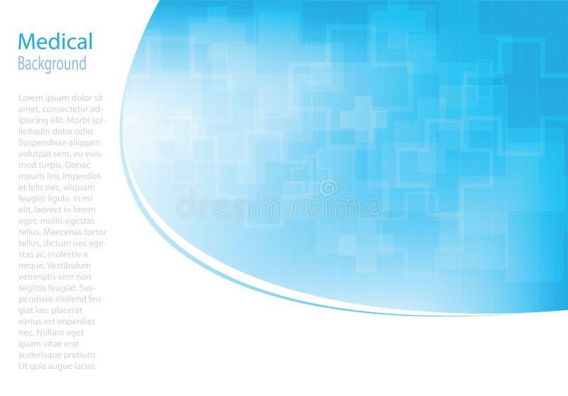 Fond médical de molécules abstraites illustration stock