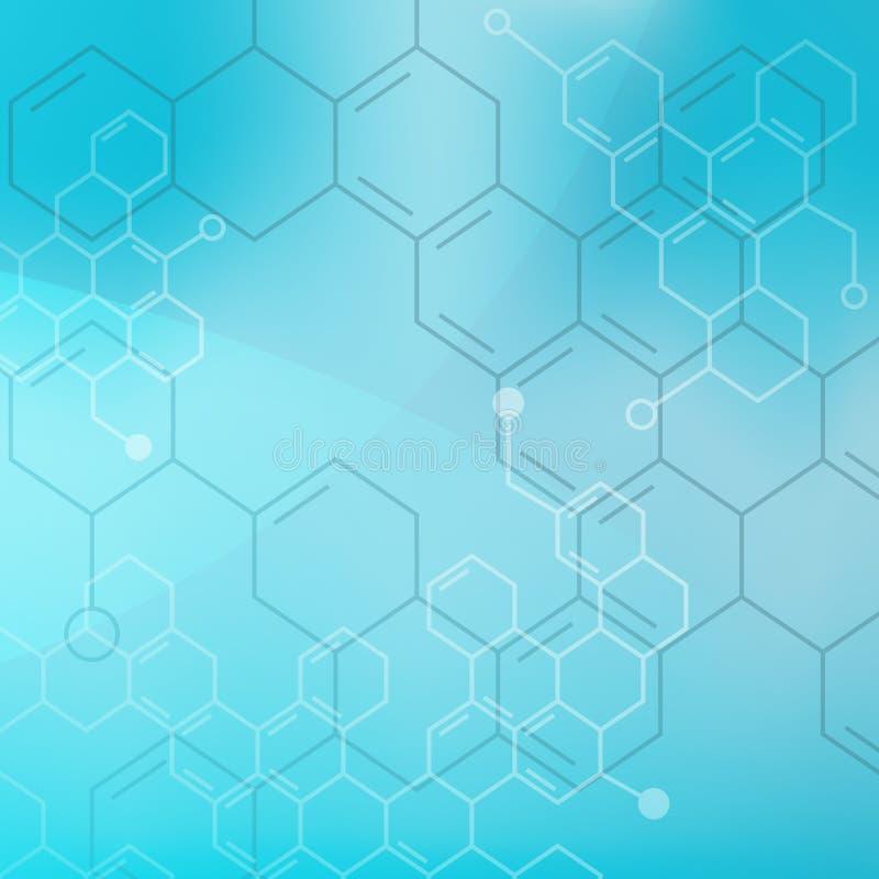 Fond médical de molécules abstraites (vecteur). illustration libre de droits