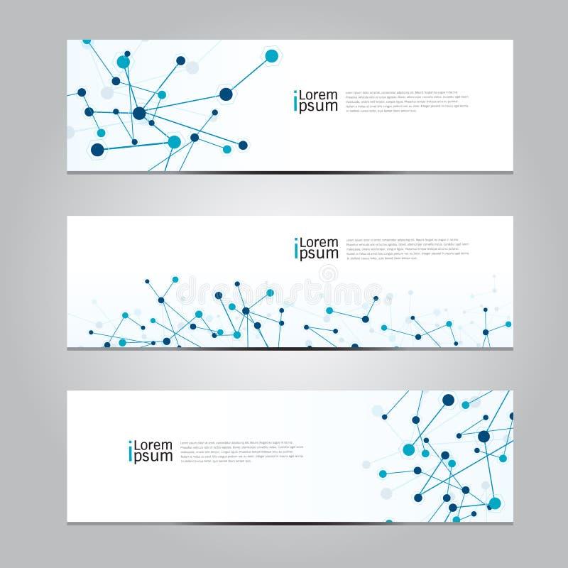 Fond médical de technologie de réseau de bannière de conception de vecteur illustration libre de droits
