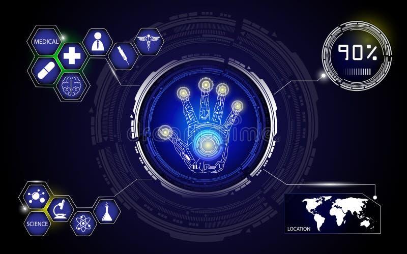 Fond médical de technologie et de science illustration stock