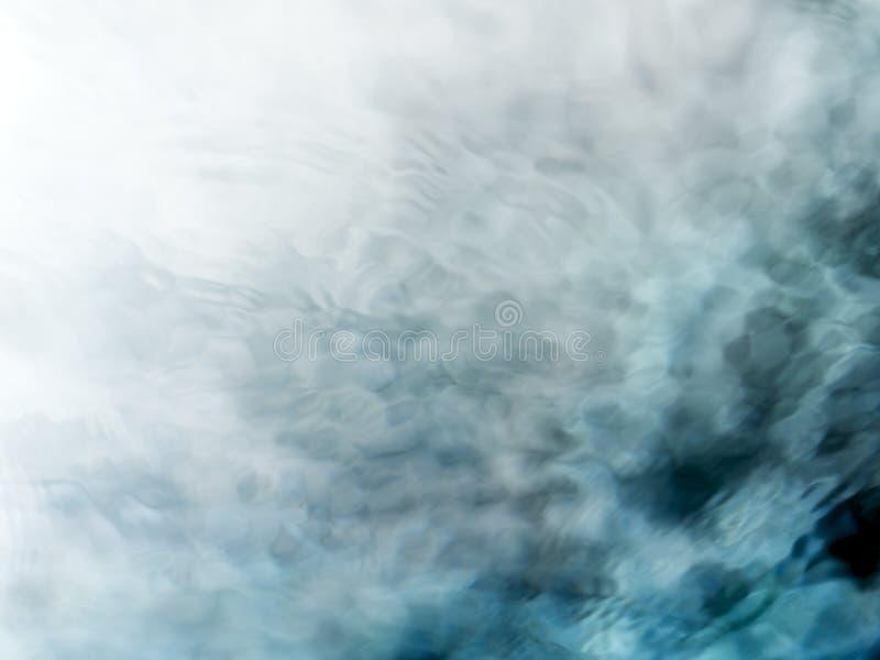Fond méditatif d'écoulement de l'eau de vert bleu photo stock