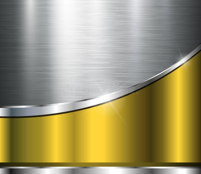 Fond métallique illustration de vecteur
