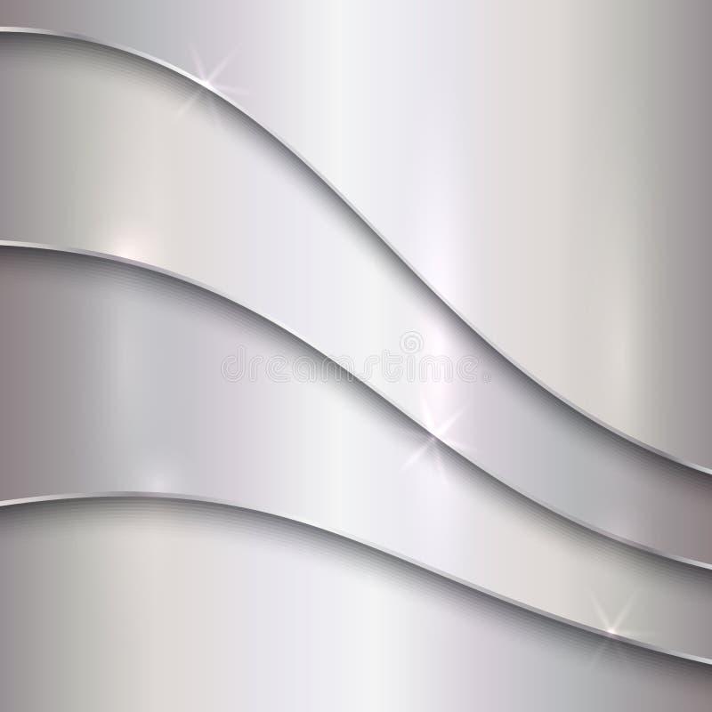 Fond métallique argenté abstrait de vecteur avec illustration de vecteur