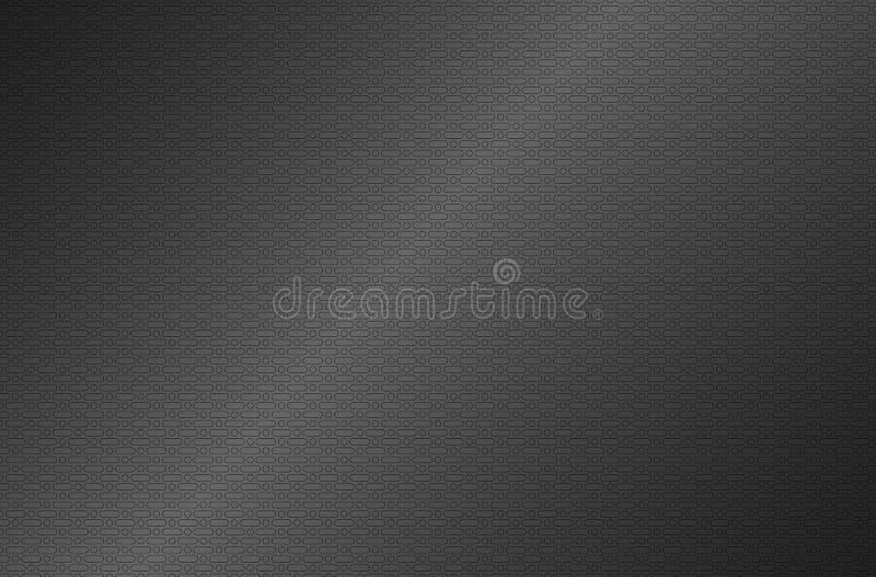 Fond métallique argenté gris perforé, texture en métal illustration stock