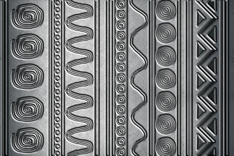 Fond métallique avec des modèles photo stock
