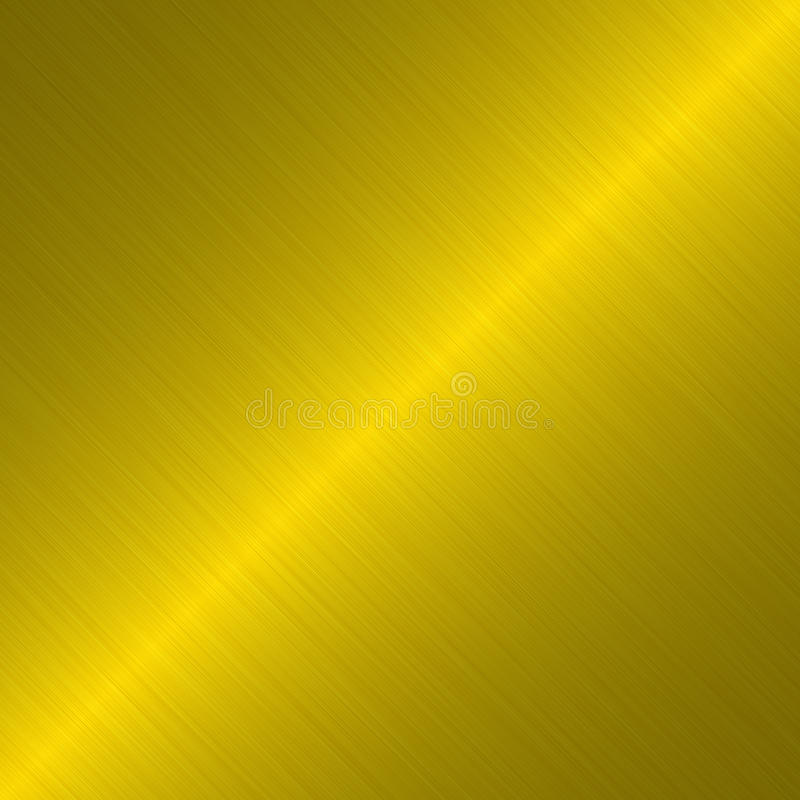 Fond métallique balayé d'or illustration libre de droits