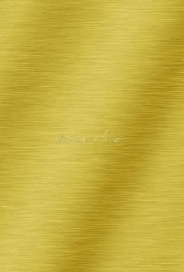 Fond métallique balayé d'or illustration stock