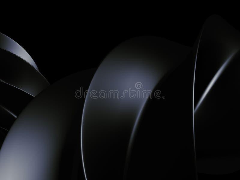 Fond métallique brillant foncé 3d rendent illustration de vecteur