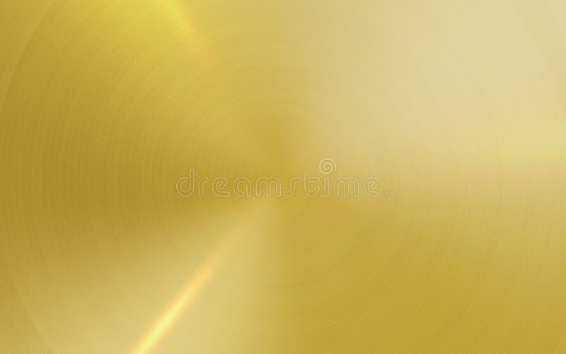 Fond métallique d'abrégé sur texture de vecteur d'or illustration stock