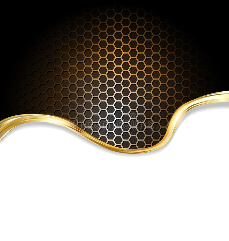 Fond métallique d'or abstrait illustration libre de droits