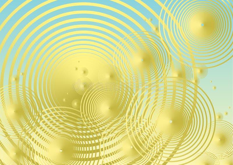 Fond métallique d'or de bulle images libres de droits