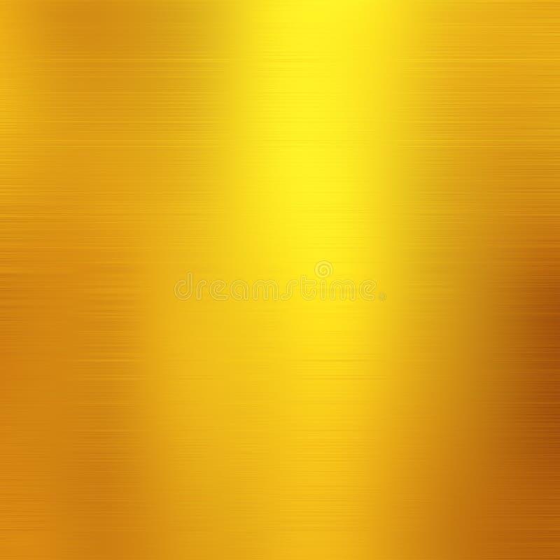Fond métallique d'or, texture de toile, backgrou de fête lumineux illustration stock