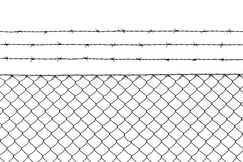 Fond métallique de modèle de barrière image libre de droits