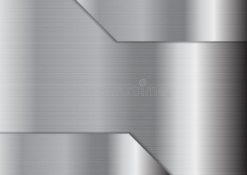 Fond métallique gris abstrait de texture illustration de vecteur