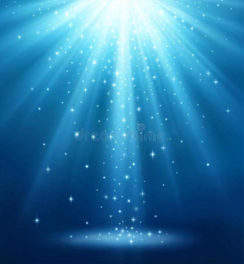 Fond magique avec la lumière illustration libre de droits