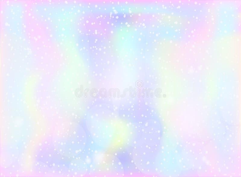 Fond magique de fée et de licorne avec la maille en pastel légère d'arc-en-ciel Contexte multicolore dans des couleurs de rose, v illustration libre de droits