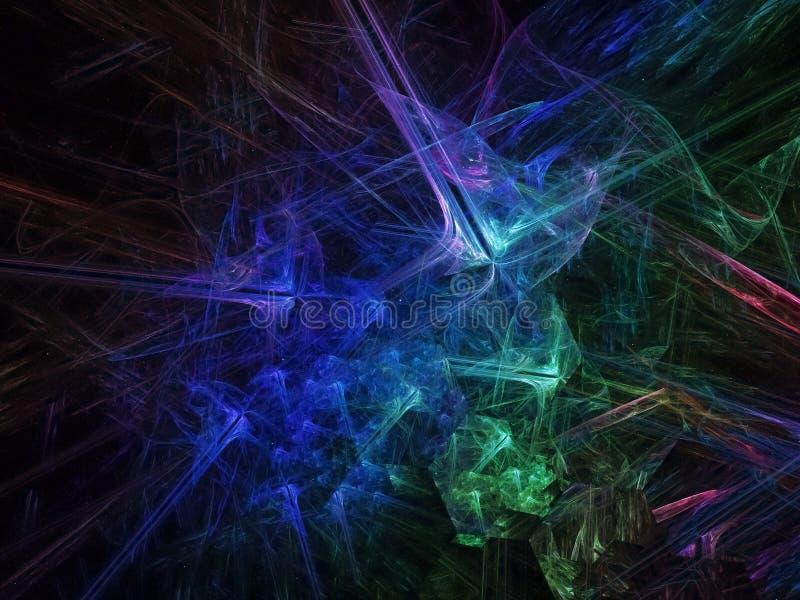 Fond magique de fractale de papier peint de flamme de surface de présentation fantastique numérique abstraite de bannière, invita images stock