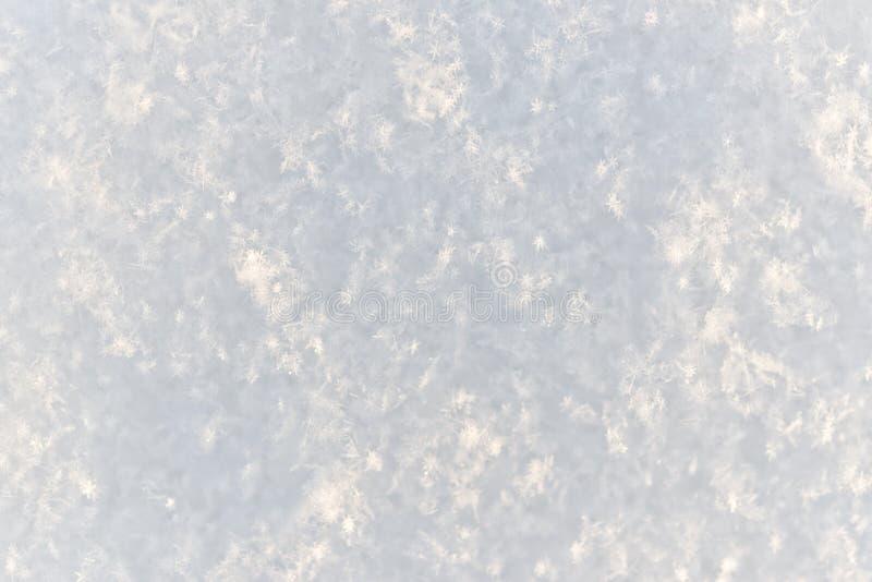 Fond magique de neige photographie stock libre de droits