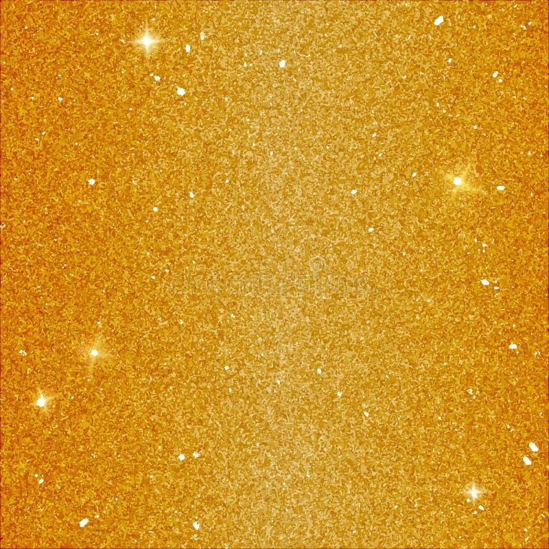 Fond magique de scintillement dans la couleur jaune Contexte d'or de vecteur avec des paillettes et des éléments d'éclat illustration libre de droits