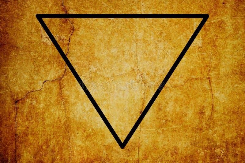 Fond magique de vintage de symboles de symbole élémentaire de l'eau illustration libre de droits