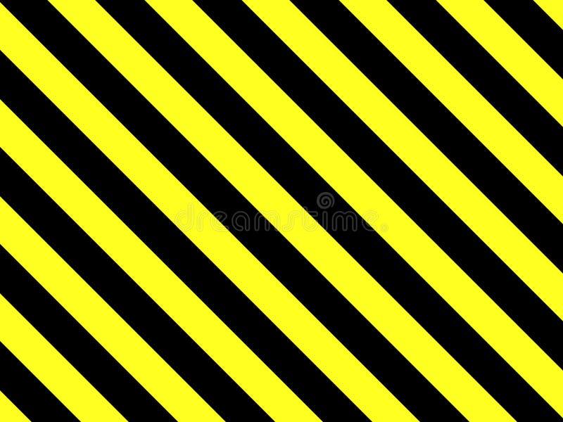 Fond magnifique avec les rayures noires et jaunes illustration stock