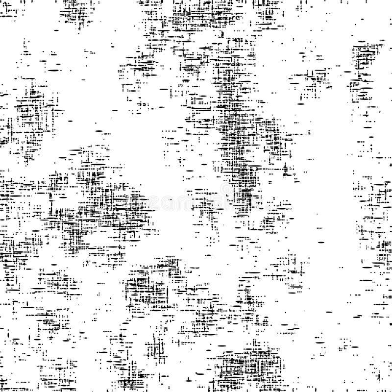 Fond malpropre de la poussière grunge noire et blanche illustration de vecteur