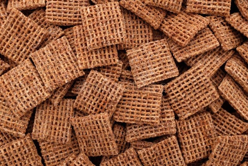 Fond malté de céréale de petit déjeuner de biscuits de blé image stock