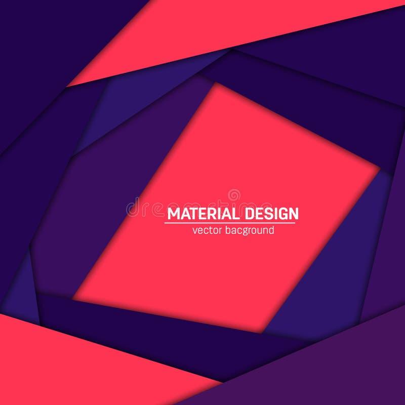 Fond matériel de conception de vecteur Calibre créatif abstrait de disposition de concept Pour le Web et l'APP mobile, illustrati images stock