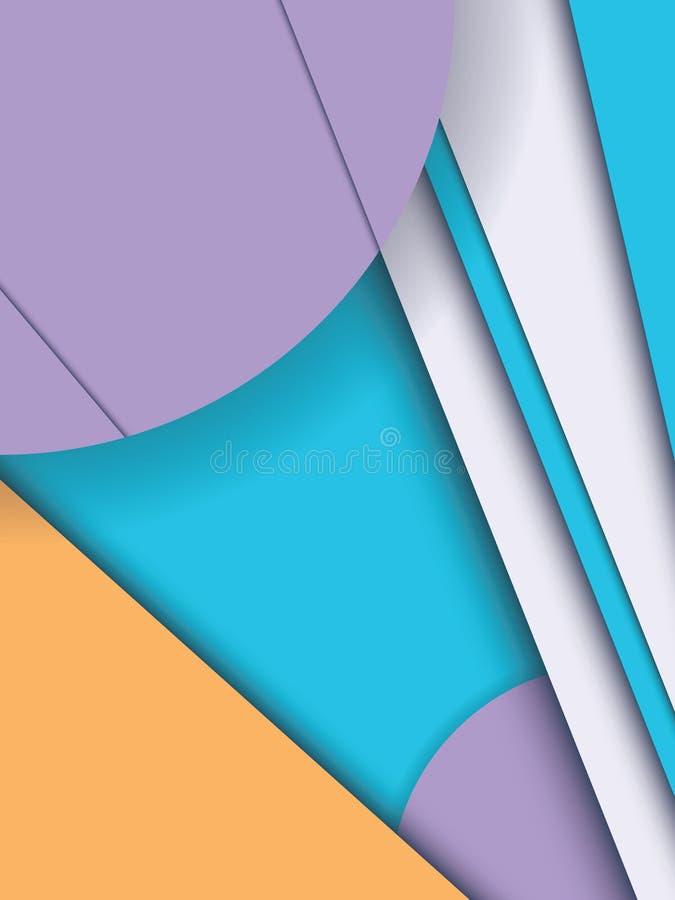 Fond matériel de vecteur d'abrégé sur style de conception Formes géométriques dans les couches illustration de vecteur