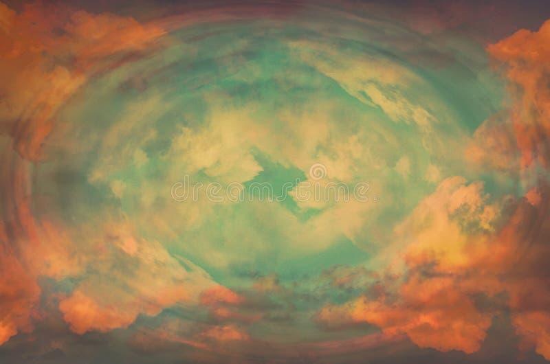 Fond merveilleux abstrait, lumière de ciel Concept de révélation photographie stock libre de droits